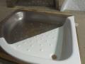 sprchovacie vaničky - rezanie plechovej a plechovej so smaltom